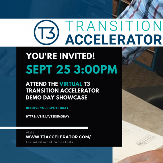 VIRTUAL T3 Transition Accelerator Demonstration Showcase event banner